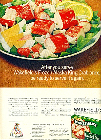 Wakefields King Crab meat ad   1965 (Image1)