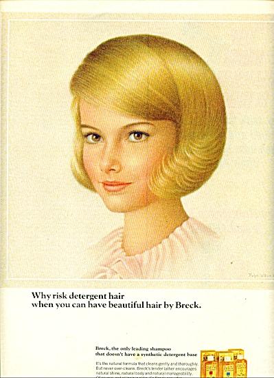 Breck shampoo ad   1965 (Image1)
