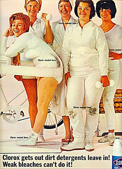 1965 Clorox Bleach OVERWEIGHT Women AD (Image1)