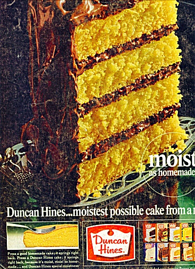 Duncan Hines cake mix   1965  ad (Image1)