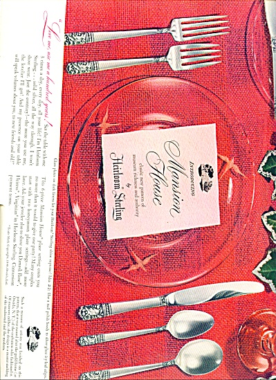 Mansion House Heirloom sterling ad - 1948 (Image1)