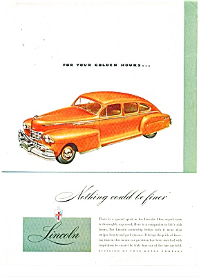 Lincoln automobile ad (Image1)