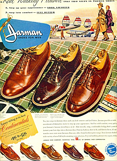 1950 Jarman Men's SHOE AD Travel TWA (Image1)