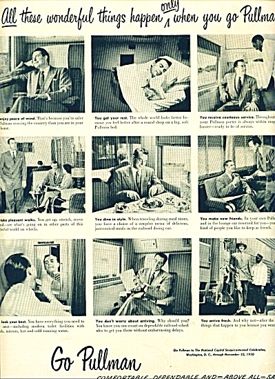 1950 Go PULLMAN TRAIN AD Relaxation (Image1)