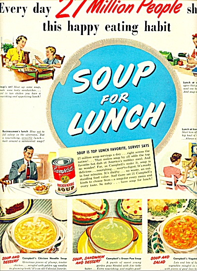 Campbell's Soups Ad 1950
