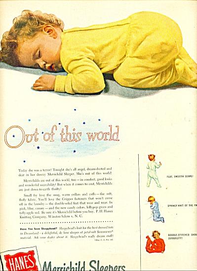 1950 Hanes MERRICHILD ad  CUTEST BABY (Image1)