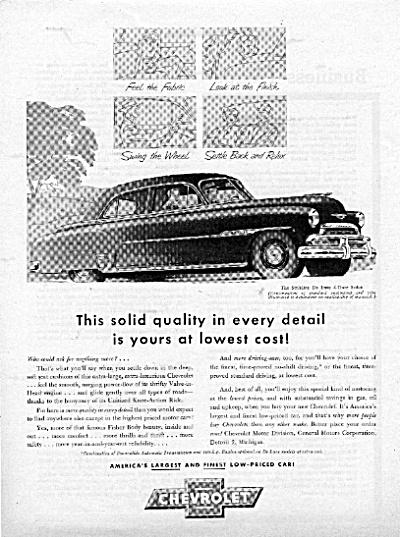 1951 CHEVROLET Styleline De Luxe Sedan AD (Image1)