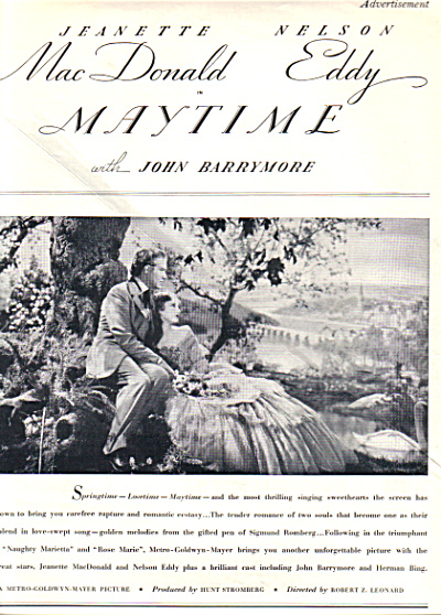 1937 MAYTIME ~ Nelson Eddy ~ Barrymore Movie (Image1)