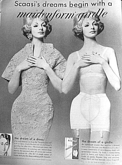 1960 SCAASI designed MAIDENFORM GIRDLE AD (Image1)