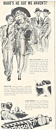 1941 E Simms Campbell Lady Men Barbasol Ad Pinup