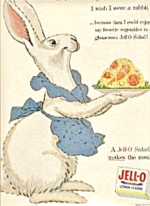 1954 Jello I WISH I WERE A RABBIT AD (Image1)