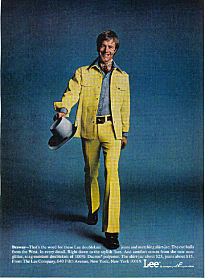 BRAWNY GUY 1974 LEE POLYESTER Jeans AD Geeky (Image1)