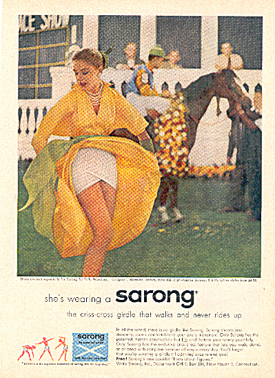 1957 SARONG Horse Race Girdle AD (Image1)