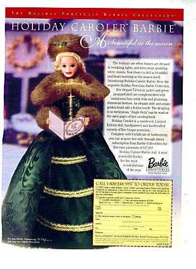 Holiday Caroler barbie doll ad - 1997 (Image1)