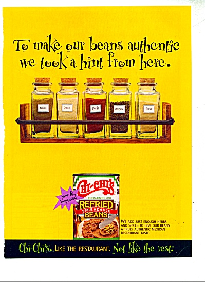 Chi Chi's beans ad  - 1997 (Image1)