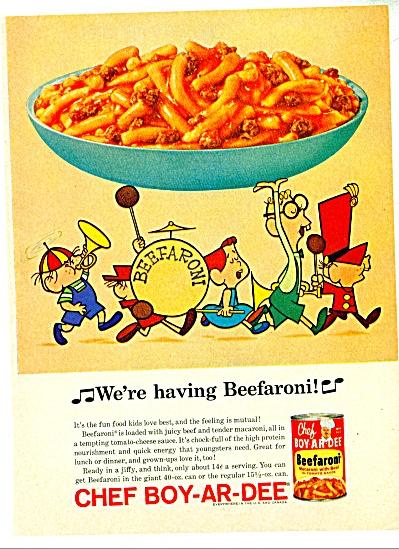 Chef Boy-ar-dee beefaroni  ad   1997- (Image1)