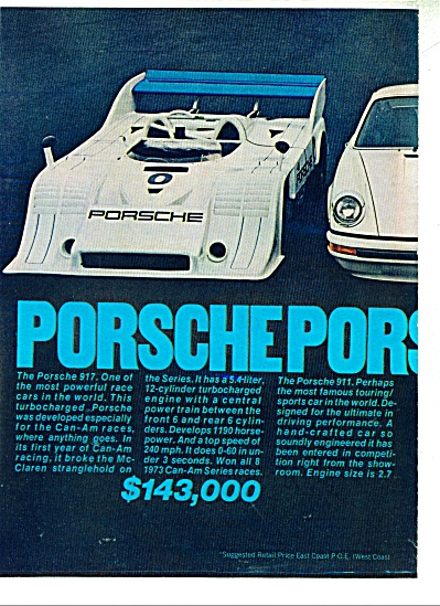Porsche automobile ad (Image1)