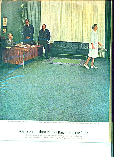 Bigelow Carpet Ad 1967