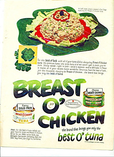 Breast Of Chicken Ad - 1951