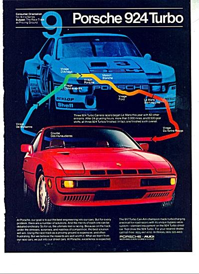 Porsche 924 turbo auto ad - 1980 (Image1)