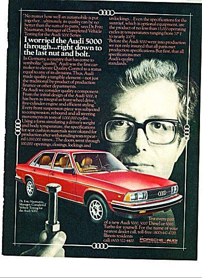 Audi automobile ad - 1980 (Image1)