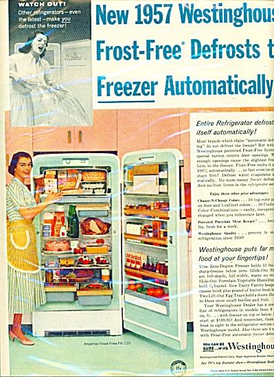 Westinghouse refrigerator ad - 1957 (Image1)