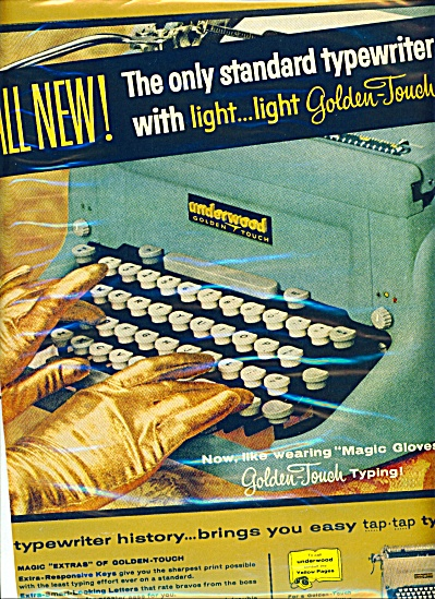 Underwood Typewriter Ad - 1957