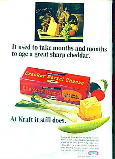 Kraft cracker barrel cheese ad -  1966 (Image1)