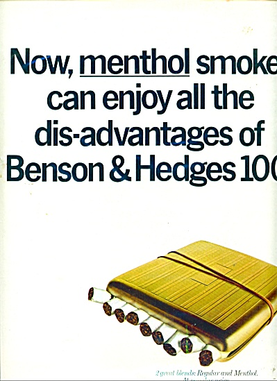 Benson & Hedges Cigarettes Ad 1967