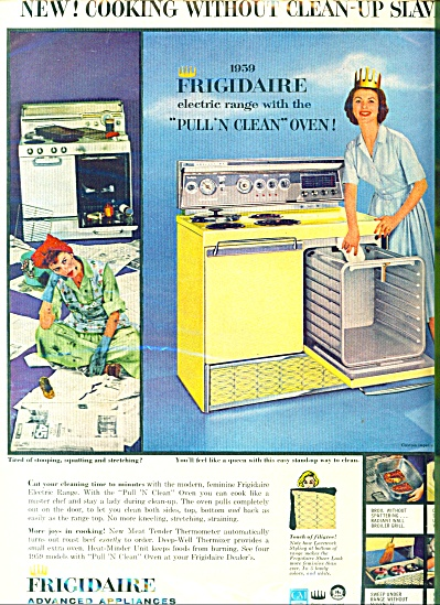 1959 Frigidaire Oven Electric Range Ad Origin