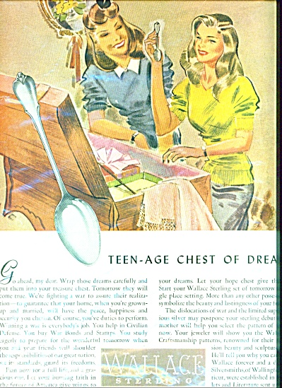 Wallace Sterling Ad Teen Age Hope Chest War