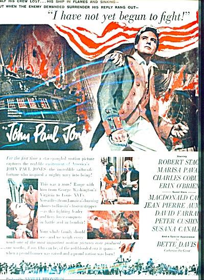 Movie AD: John Paul Jones with Robert Stack -1959 (Image1)