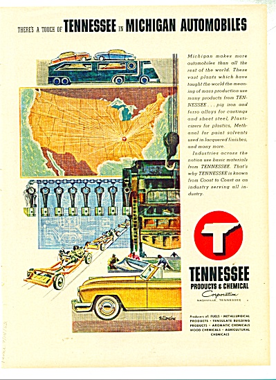 Tennessee Products & Chemical Corporation Ad