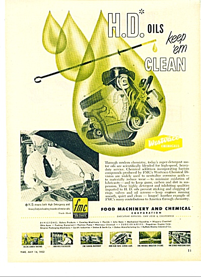 H-d Oils Ad Keep Em Clean - 1952