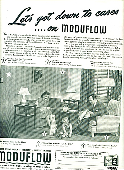 Moduflow - Honeywell heating system ad - 1947 (Image1)