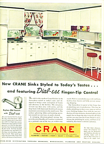 Crane plumbing, heating  Co. ad  1947 (Image1)