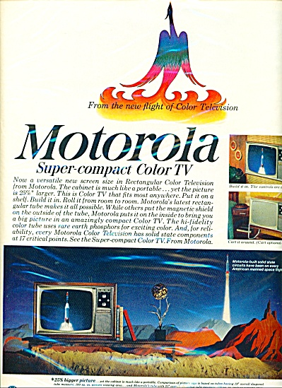 Motorola super compact color TV ad - 1966 (Image1)