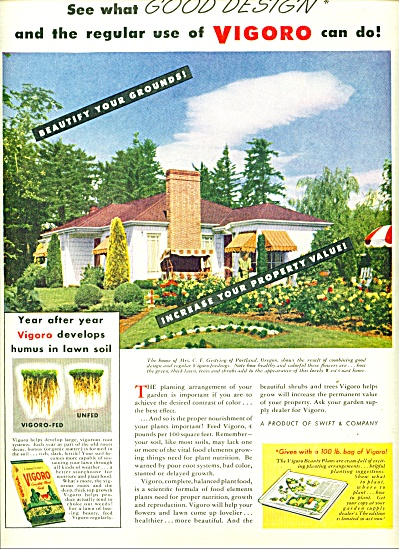 Vigoro fertilizer ad - 1947 (Image1)
