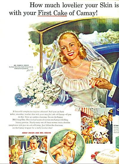 1949 Camay Ad Charles Ogilvie Betty Hyatt