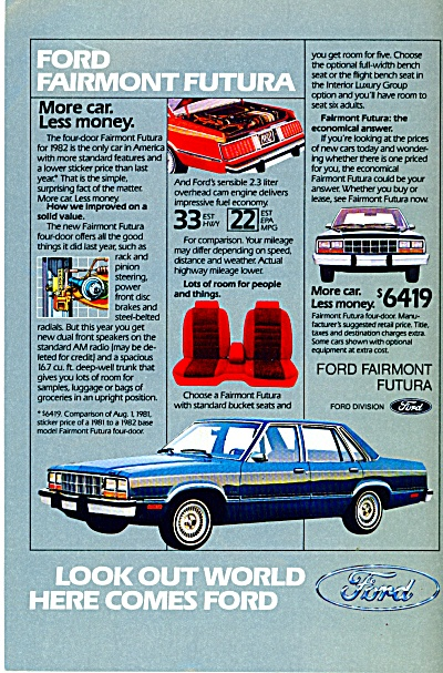Ford Motor Co. ad   1982 (Image1)
