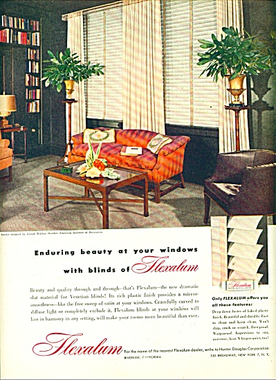 Flexalum Blinds Ad 1947