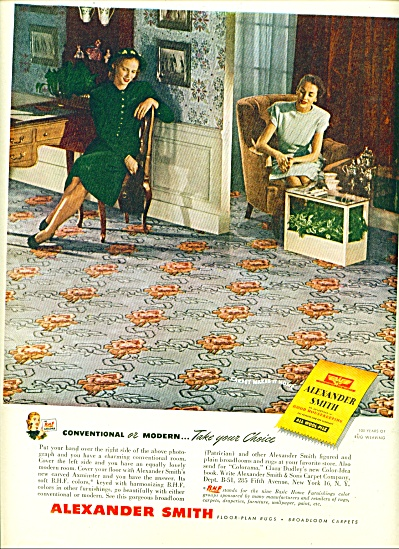 Alexander Smith Carpet Ad 1947