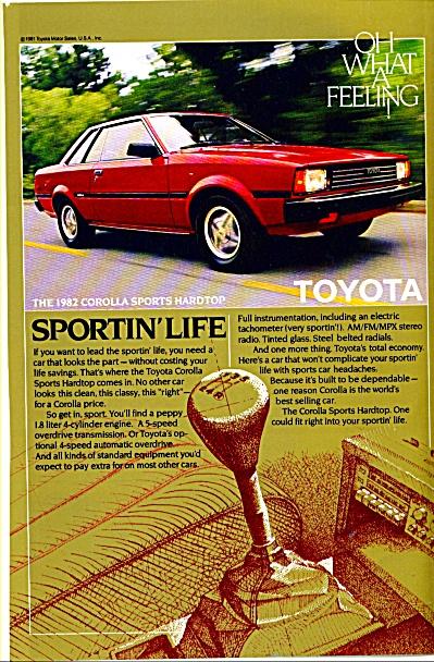Toyota automobile  1982 ad (Image1)