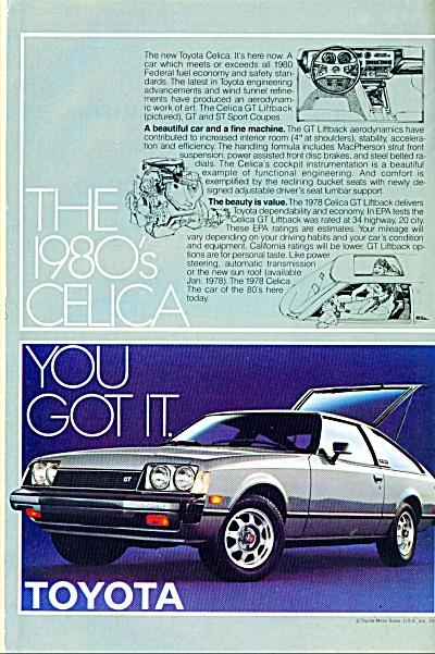 1978 TOYOTA CELICA CAR AD GT Liftback (Image1)