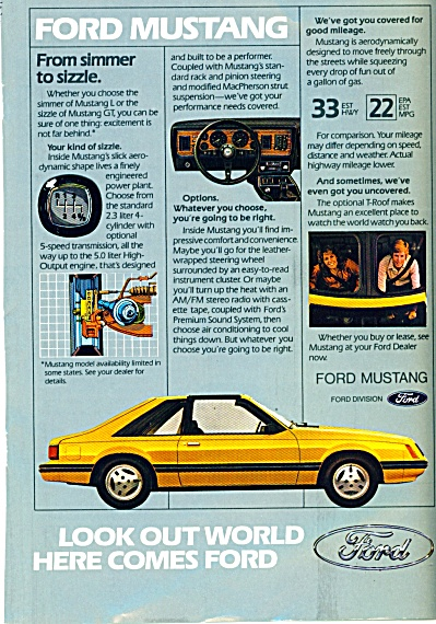Ford automobile Mustang  ad (Image1)