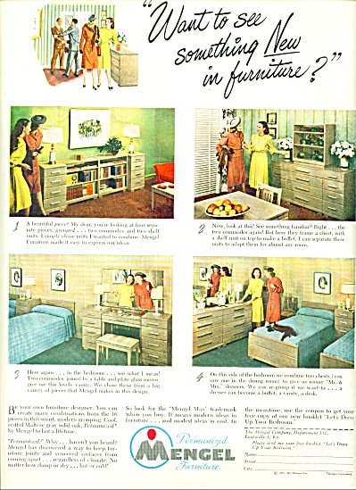 Mengel Furniture Ad - 1947
