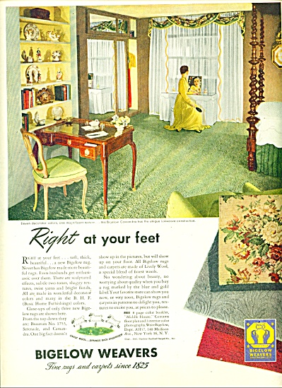 Bigelow Weavers Ad - 1947