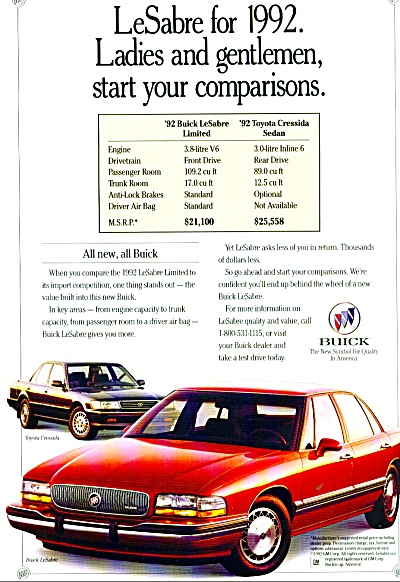 LeSabre for 1992 ad  Buick (Image1)