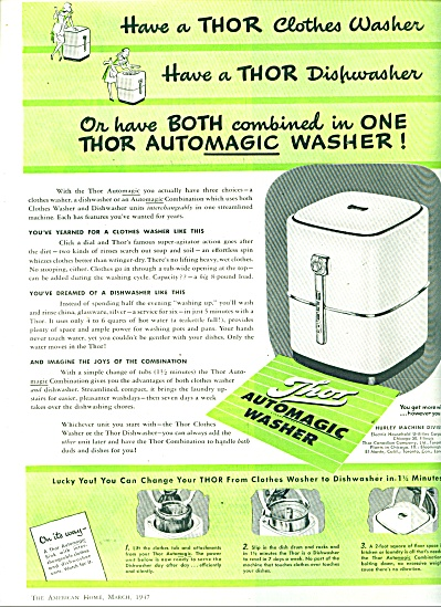 Thor automagic washer ad  1947 (Image1)