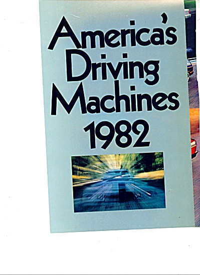 America's Driving Machines 1982 Ad